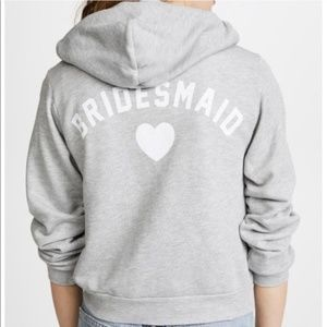 Wildfox Jackets & Coats - NEW $154 Wildfox Bridesmaid Regan Zip Hoodie Large